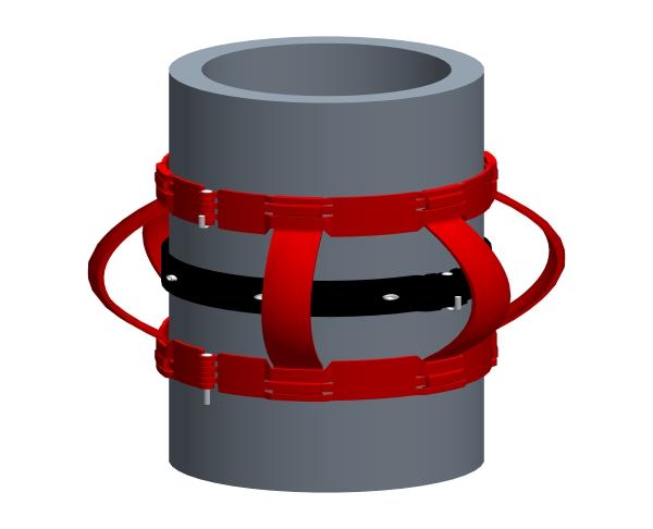 编制弹性扶正器和止动环